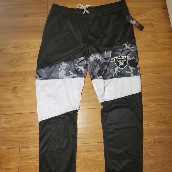 NFL Oakland Raiders Tracksuit Pants Mens S M XL Bottoms Trousers